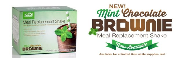 AdvoCare Mint Chocolate Brownie Shakes