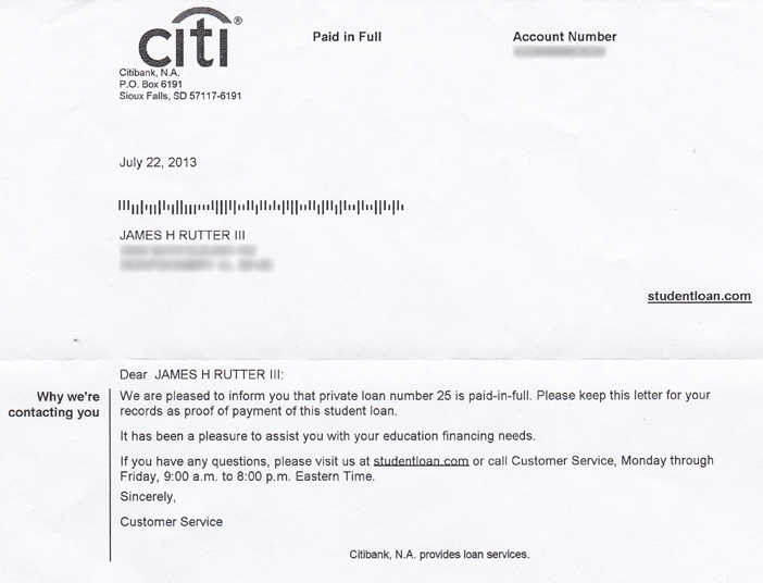 I know its hard to believe so heres the proof citibank student loan debt eliminated altavistaventures Gallery
