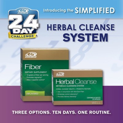 Brand new advocare fiber drink and herbal cleanse system