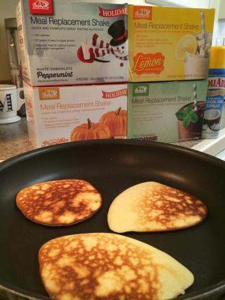 AdvoCare meal replacement shake protein pancakes